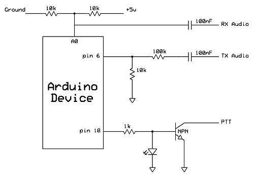 Arduino based TNC circuit