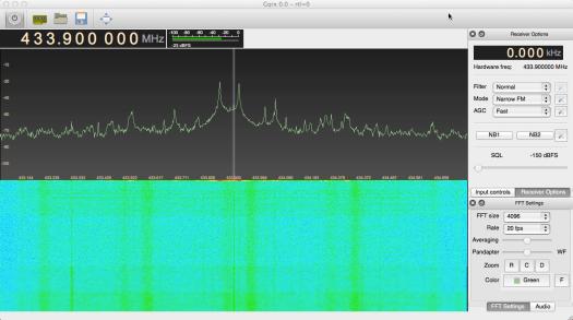 GQRX Screenshot